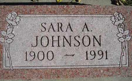 JOHNSON, SARA A. - Miner County, South Dakota | SARA A. JOHNSON - South Dakota Gravestone Photos