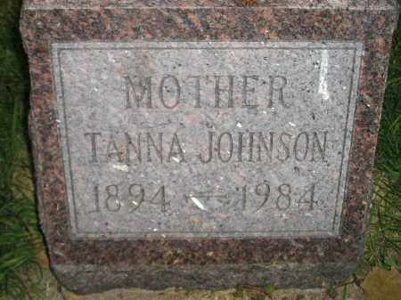 JOHNSON, TANNA - Miner County, South Dakota | TANNA JOHNSON - South Dakota Gravestone Photos