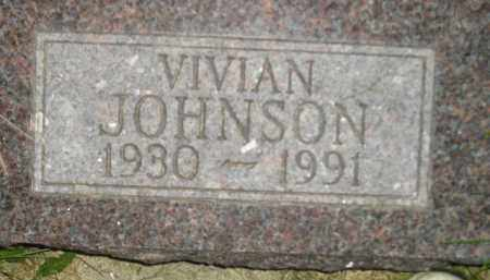 JOHNSON, VIVIAN - Miner County, South Dakota | VIVIAN JOHNSON - South Dakota Gravestone Photos