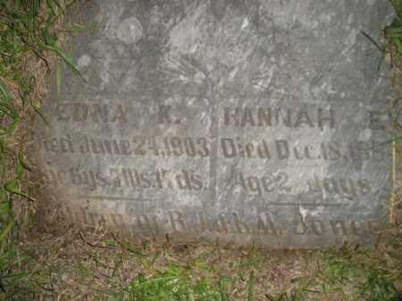 JONES, HANNAH E. - Miner County, South Dakota | HANNAH E. JONES - South Dakota Gravestone Photos