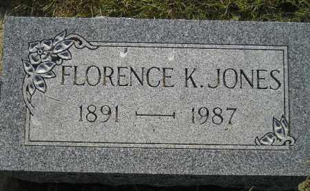JONES, FLORENCE K. - Miner County, South Dakota | FLORENCE K. JONES - South Dakota Gravestone Photos