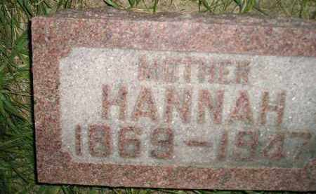 JONES, HANNAH - Miner County, South Dakota | HANNAH JONES - South Dakota Gravestone Photos