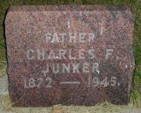 JUNKER, CHARLES F. - Miner County, South Dakota | CHARLES F. JUNKER - South Dakota Gravestone Photos