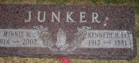 JUNKER, KENNETH H. SR. - Miner County, South Dakota | KENNETH H. SR. JUNKER - South Dakota Gravestone Photos