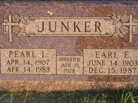 JUNKER, EARL E. - Miner County, South Dakota | EARL E. JUNKER - South Dakota Gravestone Photos