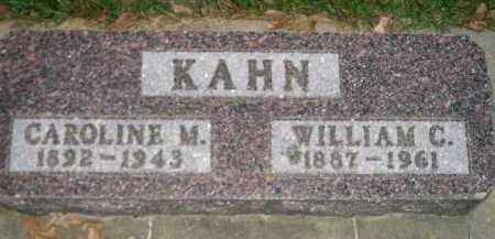 KAHN, CAROLINE M. - Miner County, South Dakota | CAROLINE M. KAHN - South Dakota Gravestone Photos