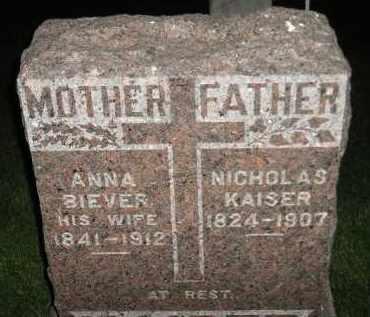 KAISER, NICHOLAS - Miner County, South Dakota   NICHOLAS KAISER - South Dakota Gravestone Photos