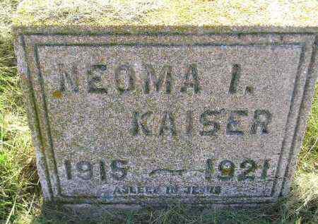 KAISER, NEOMA I. - Miner County, South Dakota | NEOMA I. KAISER - South Dakota Gravestone Photos