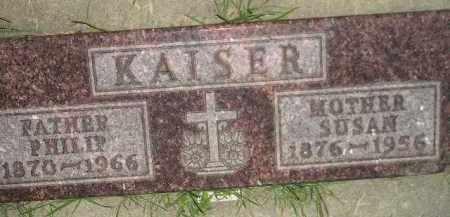 KAISER, PHILIP - Miner County, South Dakota | PHILIP KAISER - South Dakota Gravestone Photos