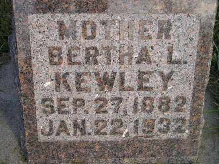 KEWLEY, BERTHA L. - Miner County, South Dakota | BERTHA L. KEWLEY - South Dakota Gravestone Photos