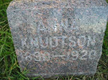 KNUDTSON, ANNA - Miner County, South Dakota | ANNA KNUDTSON - South Dakota Gravestone Photos