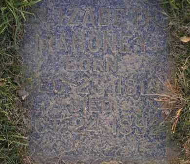 MAHONEY, ELIZABETH - Miner County, South Dakota | ELIZABETH MAHONEY - South Dakota Gravestone Photos