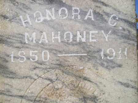 MAHONEY, HONORA C. - Miner County, South Dakota | HONORA C. MAHONEY - South Dakota Gravestone Photos