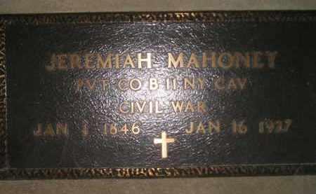 MAHONEY, JEREMIAH - Miner County, South Dakota | JEREMIAH MAHONEY - South Dakota Gravestone Photos