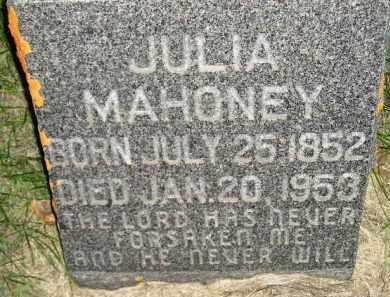 MAHONEY, JULIA - Miner County, South Dakota | JULIA MAHONEY - South Dakota Gravestone Photos