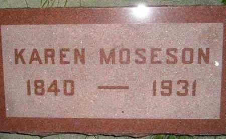 MOSESON, KAREN - Miner County, South Dakota | KAREN MOSESON - South Dakota Gravestone Photos