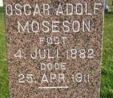 MOSESON, OSCAR ADOLF - Miner County, South Dakota   OSCAR ADOLF MOSESON - South Dakota Gravestone Photos