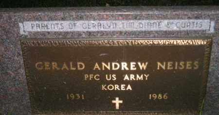 NEISES, GERALD ANDREW (MILITARY) - Miner County, South Dakota | GERALD ANDREW (MILITARY) NEISES - South Dakota Gravestone Photos