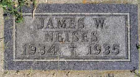 NEISES, JAMES W. - Miner County, South Dakota | JAMES W. NEISES - South Dakota Gravestone Photos