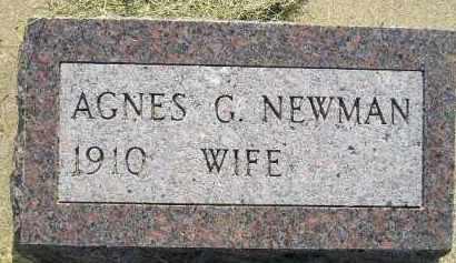 NEWMAN, AGNES G. - Miner County, South Dakota | AGNES G. NEWMAN - South Dakota Gravestone Photos
