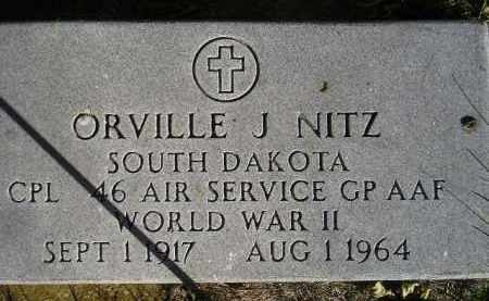 NITZ, ORVILLE J. - Miner County, South Dakota | ORVILLE J. NITZ - South Dakota Gravestone Photos