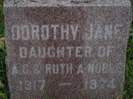 NOBLE, DOROTHY JANE - Miner County, South Dakota | DOROTHY JANE NOBLE - South Dakota Gravestone Photos