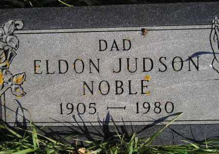 NOBLE, ELDON JUDSON - Miner County, South Dakota | ELDON JUDSON NOBLE - South Dakota Gravestone Photos