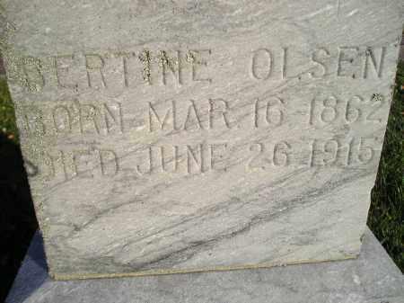 OLSEN, BERTINE - Miner County, South Dakota | BERTINE OLSEN - South Dakota Gravestone Photos