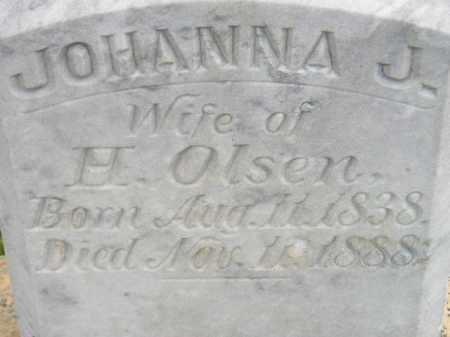 OLSEN, JOHANNA J. - Miner County, South Dakota | JOHANNA J. OLSEN - South Dakota Gravestone Photos