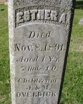 OVERDICK, ESTHER A. - Miner County, South Dakota | ESTHER A. OVERDICK - South Dakota Gravestone Photos