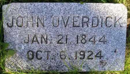 OVERDICK, JOHN - Miner County, South Dakota   JOHN OVERDICK - South Dakota Gravestone Photos