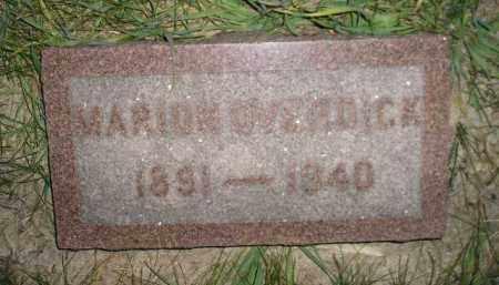 OVERDICK, MARION - Miner County, South Dakota   MARION OVERDICK - South Dakota Gravestone Photos