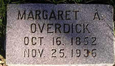 OVERDICK, MARGARET A. - Miner County, South Dakota | MARGARET A. OVERDICK - South Dakota Gravestone Photos
