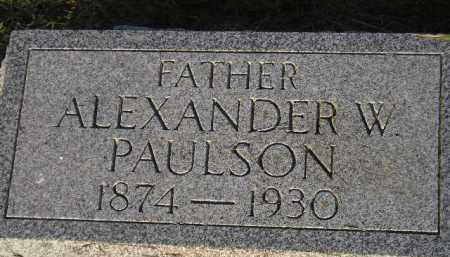 PAULSON, ALEXANDER W. - Miner County, South Dakota | ALEXANDER W. PAULSON - South Dakota Gravestone Photos