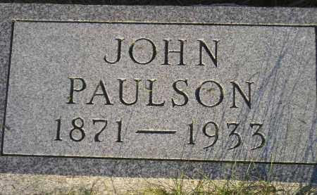 PAULSON, JOHN - Miner County, South Dakota | JOHN PAULSON - South Dakota Gravestone Photos