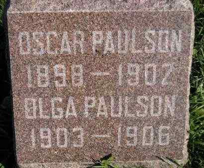 PAULSON, OSCAR - Miner County, South Dakota   OSCAR PAULSON - South Dakota Gravestone Photos