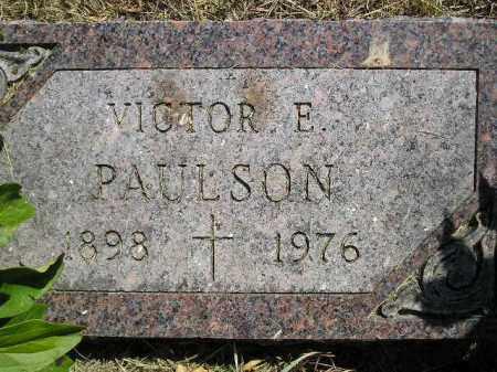PAULSON, VICTOR E. - Miner County, South Dakota | VICTOR E. PAULSON - South Dakota Gravestone Photos
