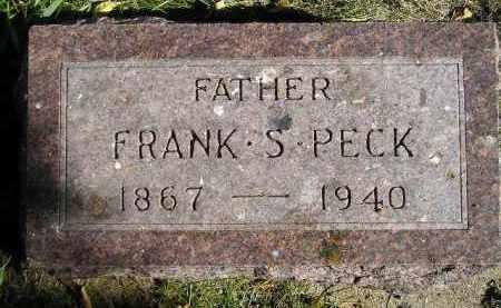 PECK, FRANK S. - Miner County, South Dakota | FRANK S. PECK - South Dakota Gravestone Photos