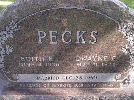 PECKS, DWAYNE E. - Miner County, South Dakota | DWAYNE E. PECKS - South Dakota Gravestone Photos