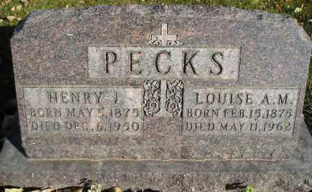 PECKS, LOUISE A.M. - Miner County, South Dakota | LOUISE A.M. PECKS - South Dakota Gravestone Photos