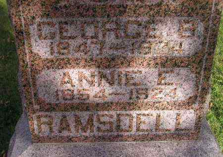 RAMSDELL, ANNIE E. - Miner County, South Dakota | ANNIE E. RAMSDELL - South Dakota Gravestone Photos