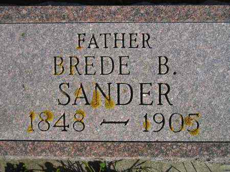 SANDER, BREDE B. #1 - Miner County, South Dakota | BREDE B. #1 SANDER - South Dakota Gravestone Photos