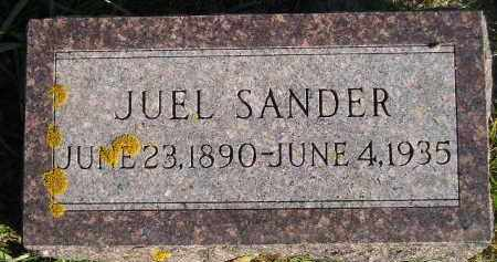 SANDER, JUEL - Miner County, South Dakota | JUEL SANDER - South Dakota Gravestone Photos