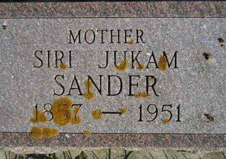 JUKAM SANDER, SIRI #2 - Miner County, South Dakota | SIRI #2 JUKAM SANDER - South Dakota Gravestone Photos