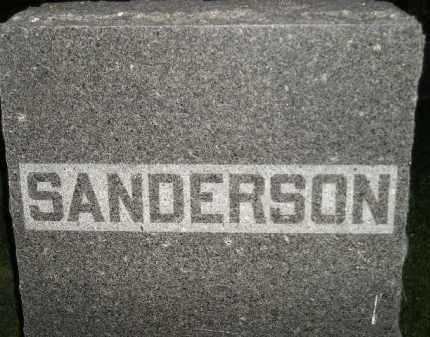 SANDERSON, FAMILY STONE - Miner County, South Dakota | FAMILY STONE SANDERSON - South Dakota Gravestone Photos