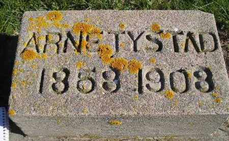TYSTAD, ARNE - Miner County, South Dakota | ARNE TYSTAD - South Dakota Gravestone Photos