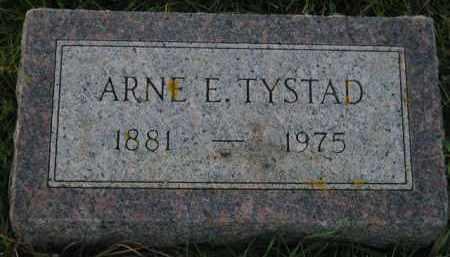 TYSTAD, ARNE E. - Miner County, South Dakota   ARNE E. TYSTAD - South Dakota Gravestone Photos