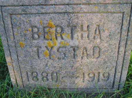 TYSTAD, BERTHA - Miner County, South Dakota   BERTHA TYSTAD - South Dakota Gravestone Photos