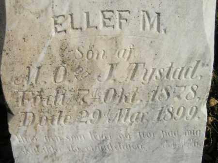 TYSTAD, ELLEF M. - Miner County, South Dakota | ELLEF M. TYSTAD - South Dakota Gravestone Photos