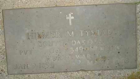 TYSTAD, HILMER M. - Miner County, South Dakota   HILMER M. TYSTAD - South Dakota Gravestone Photos